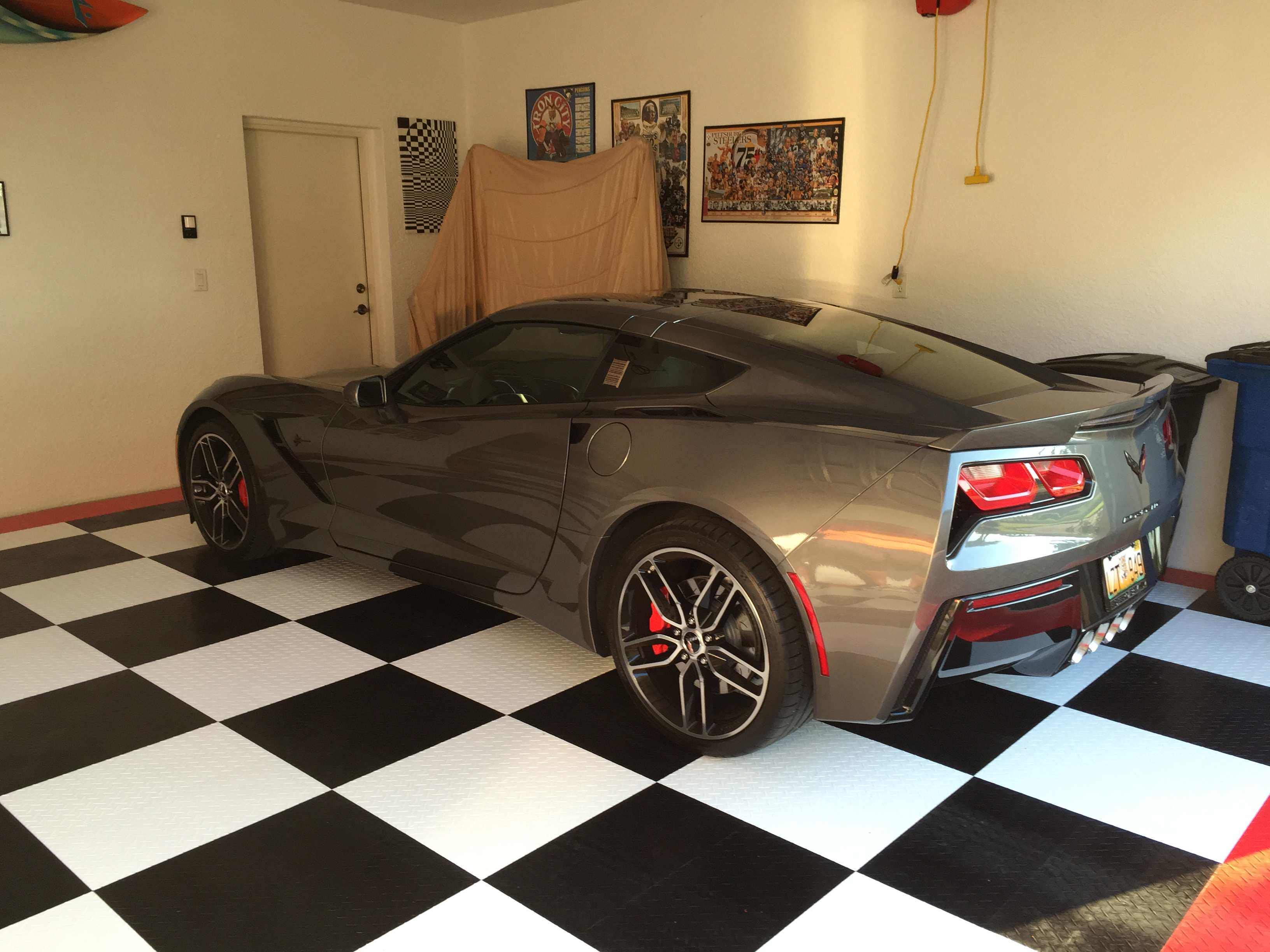 Finished my garage floor with racedeck tiles today dailygadgetfo Image collections
