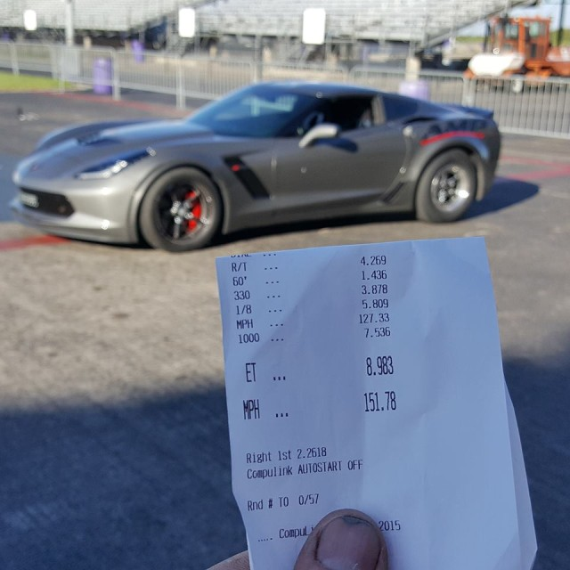 1220 HP, sub 9 second quarter mile C7 on stock components