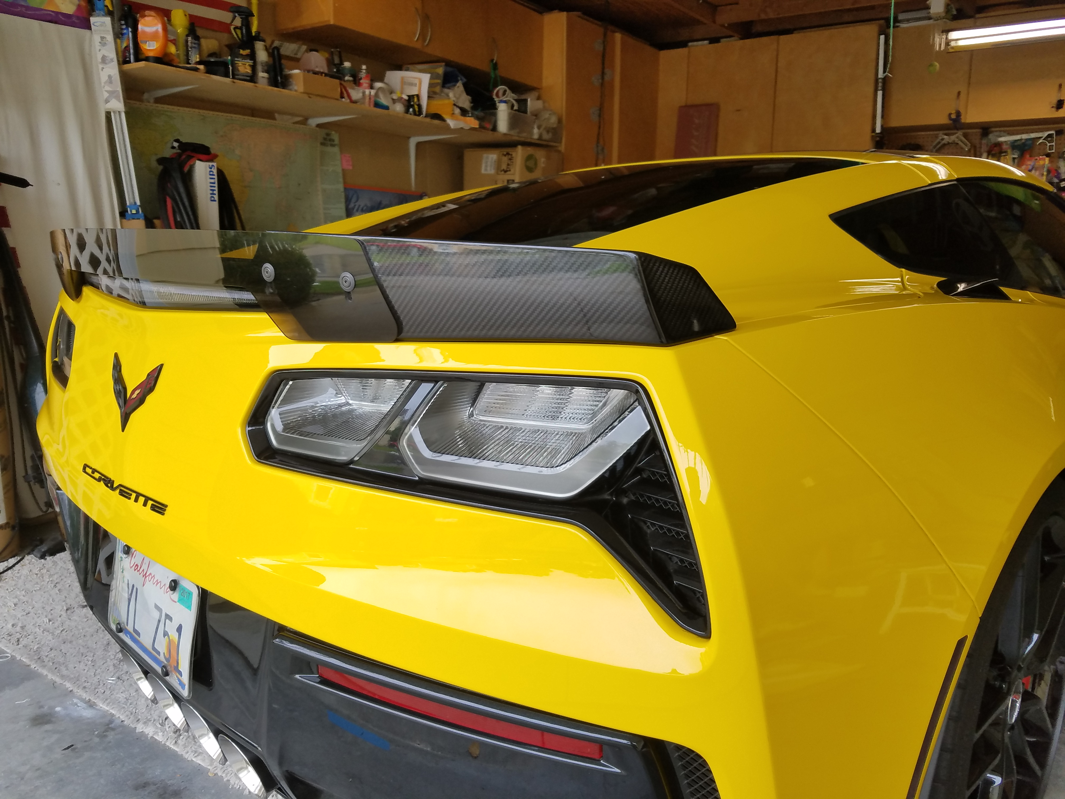 Z06 Spoiler On Z51 Stage 1 Now Stage 3 Coming Rear Spoiler Page 3 Stingray Corvette Forum
