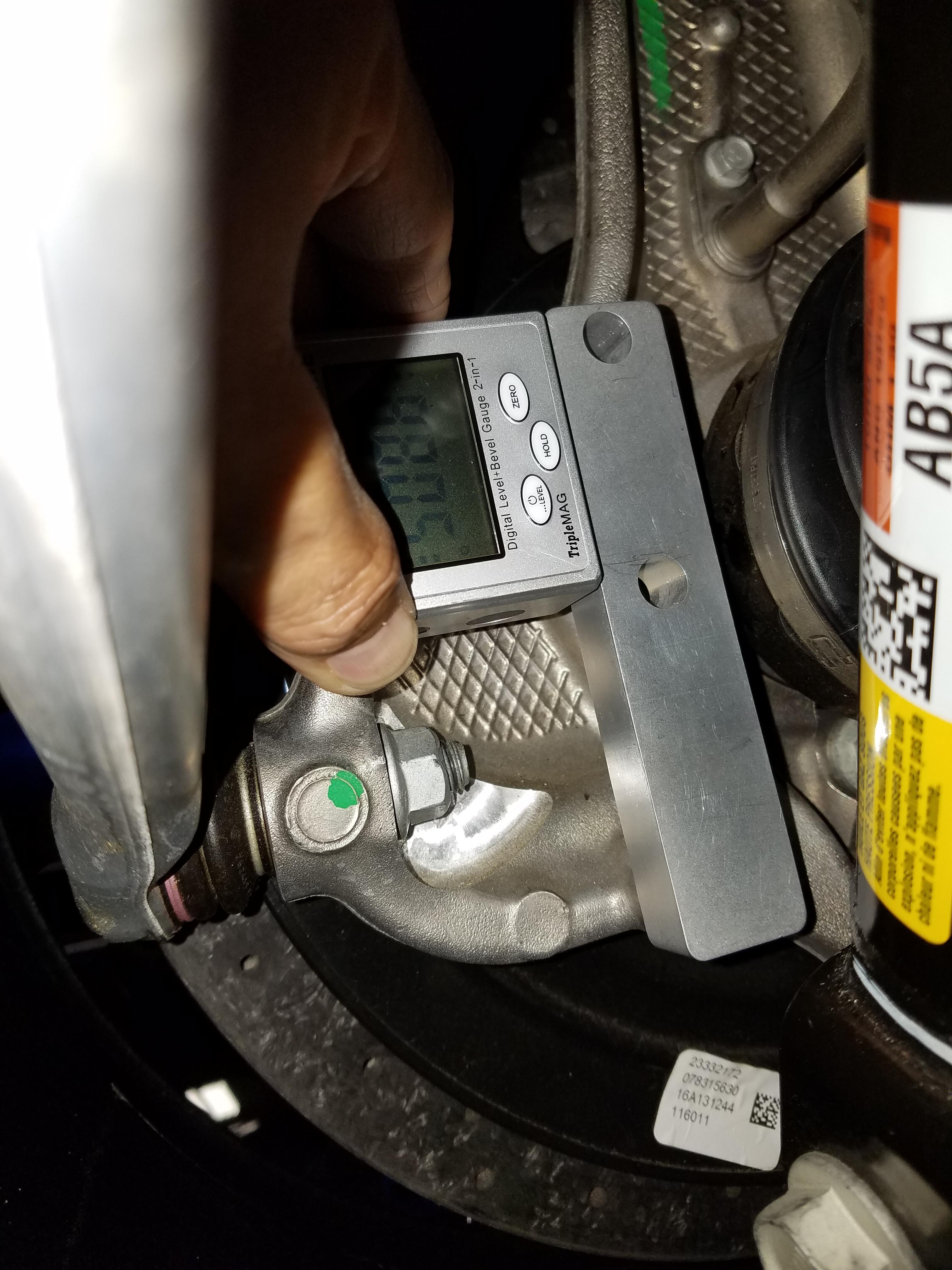 C7 rear caster gauge adapter