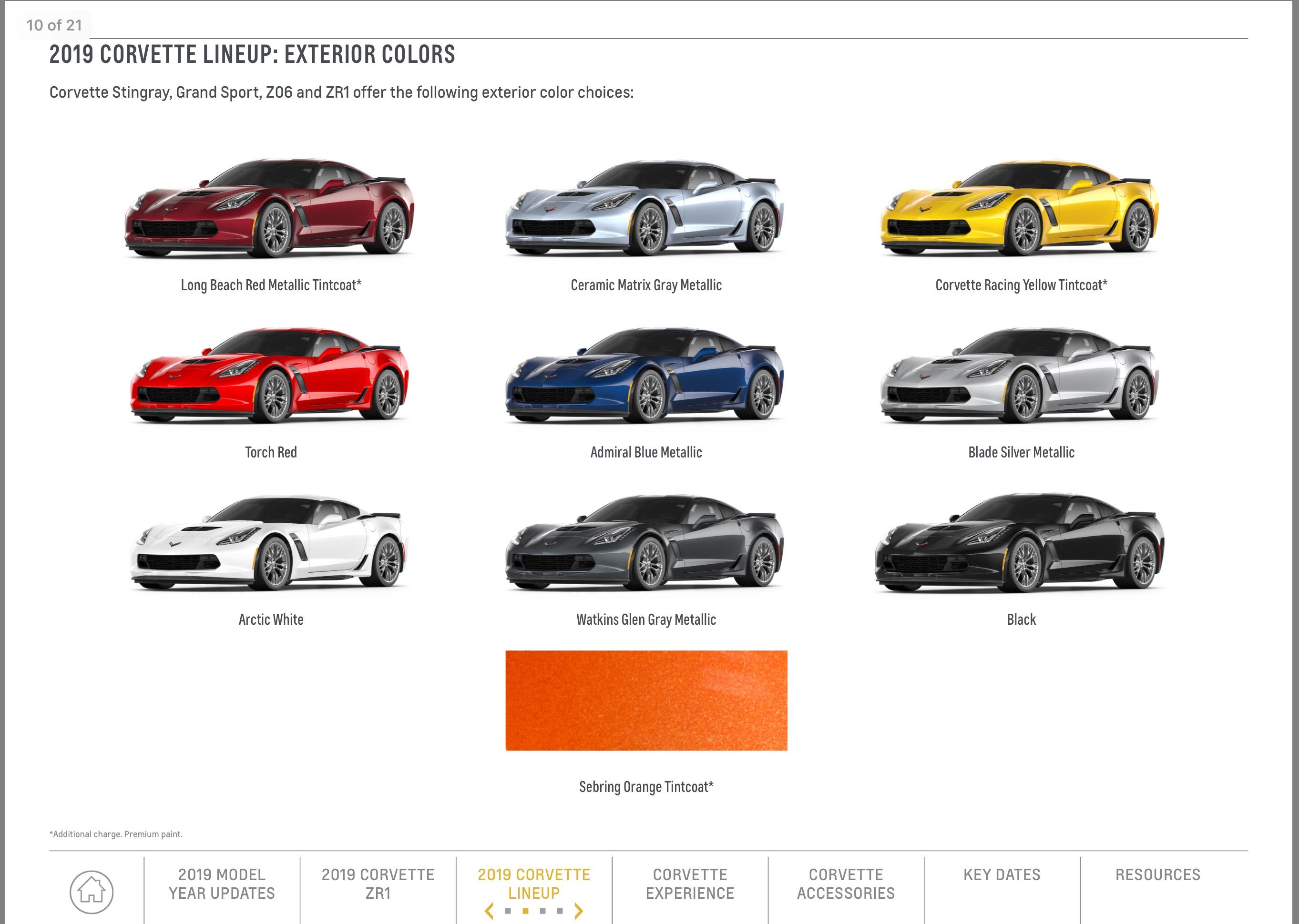 Interior Paint Colors 2017 Gm 2019 Corvette Playbook