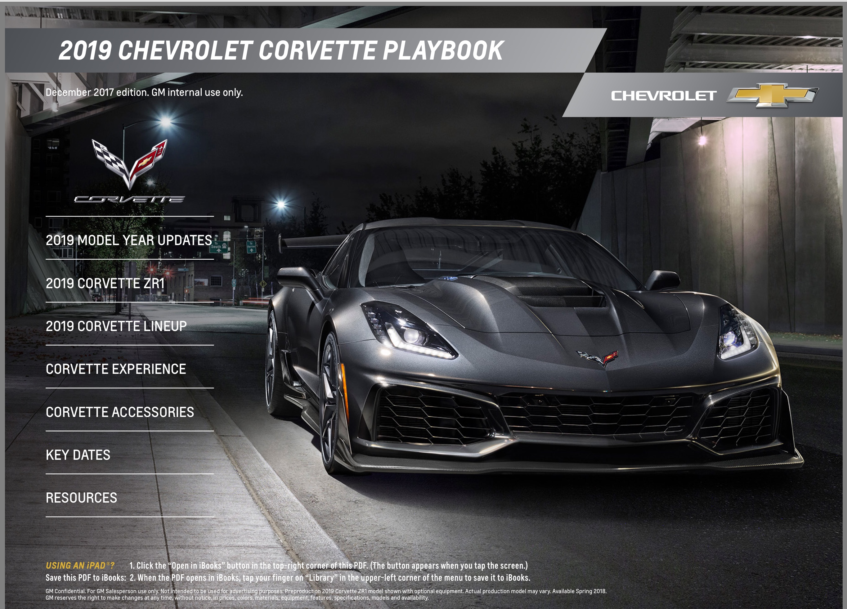 Gm 2019 Corvette Playbook