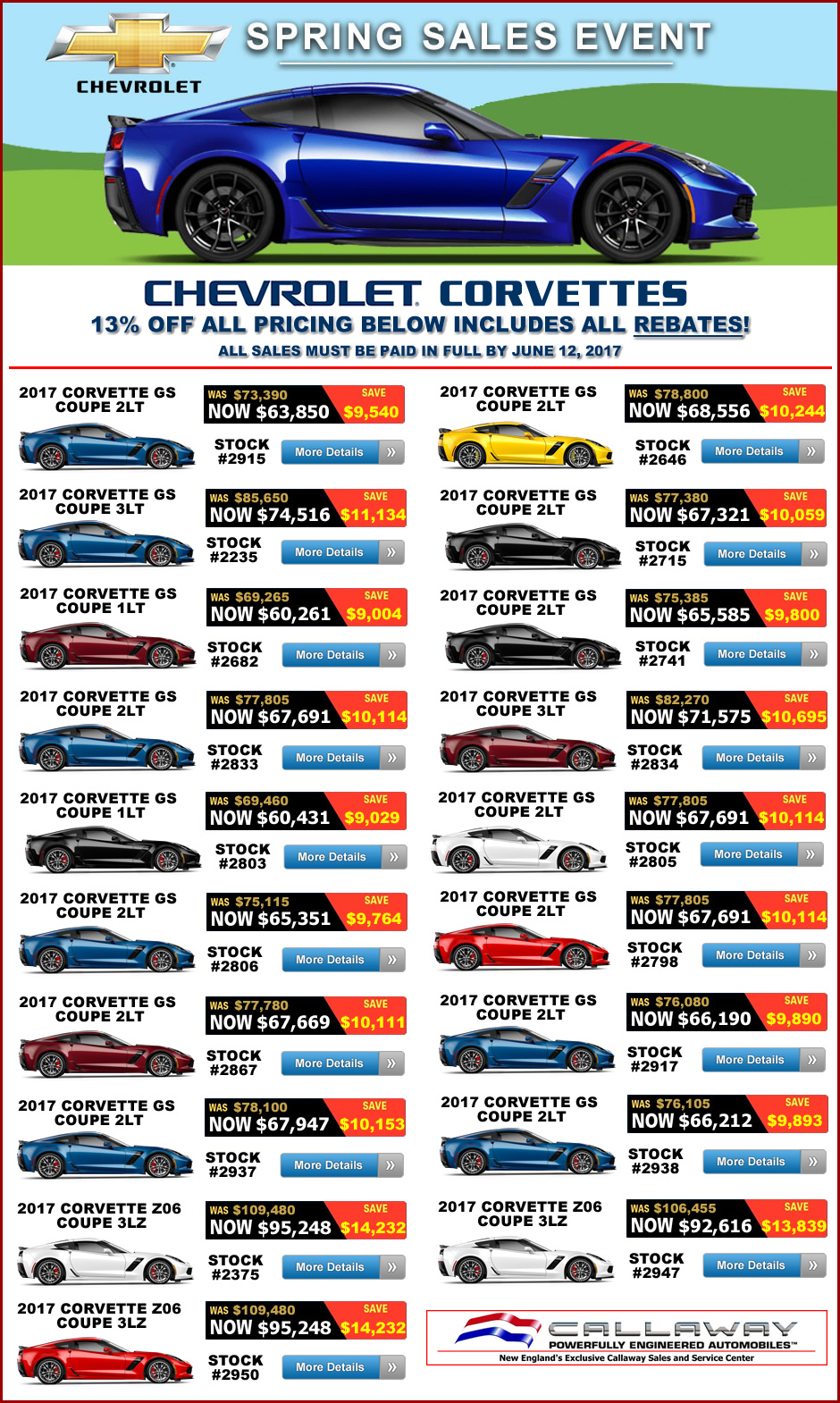 Huge Corvette Spring Sales Event Macmulkin Chevrolet