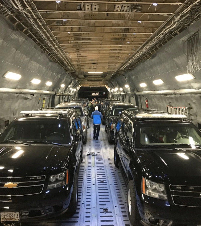 Air Transport For Presidential Motorcade