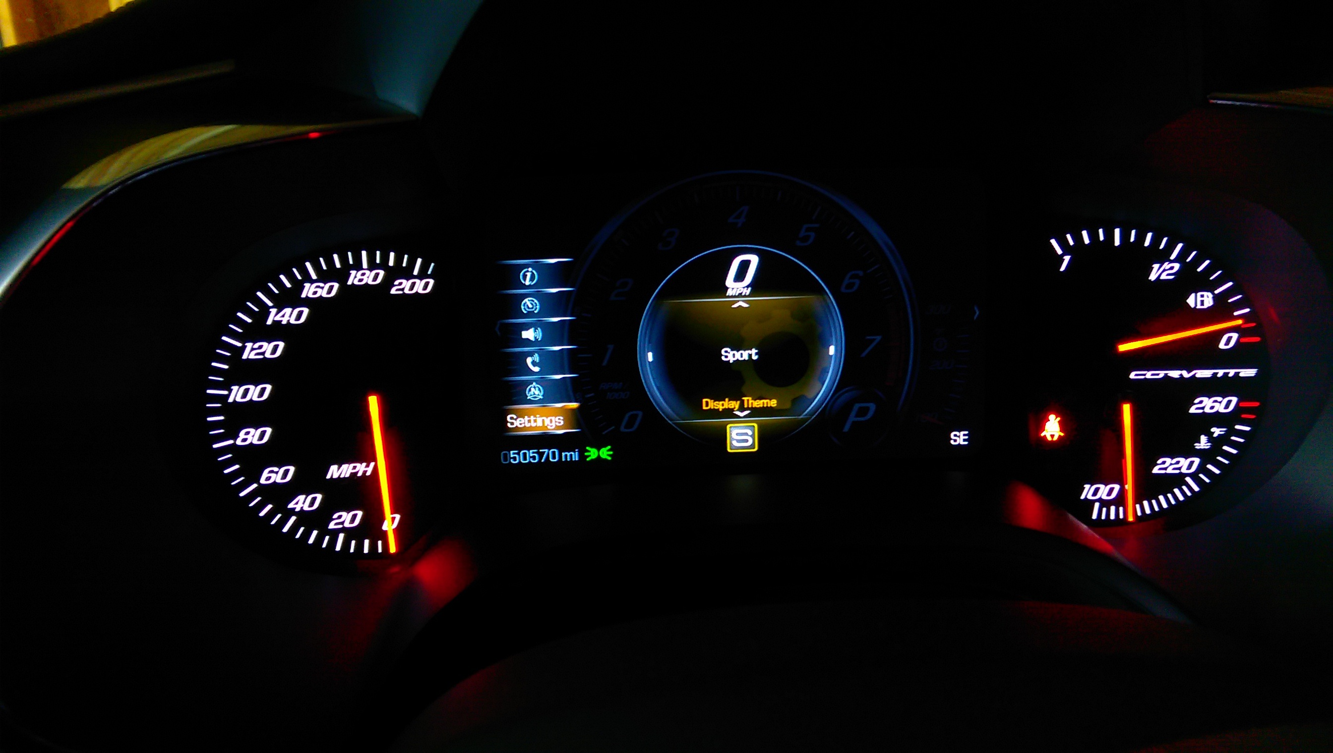 Dash speedometer display won't leave track mode