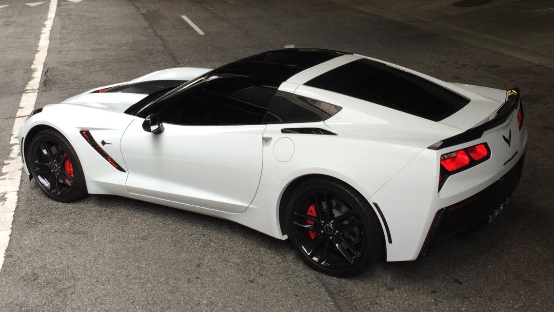 2014 chevrolet corvette stingray c7 convertible sports car in arctic - Corvette 2015 White