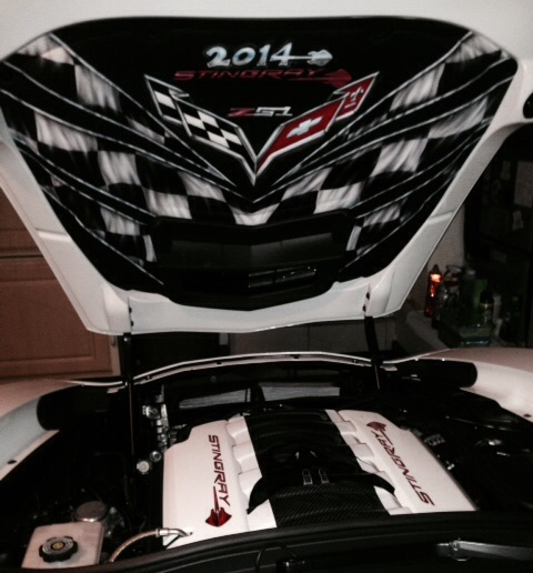 My Custom C7 Hood Liner Painted By Steve Ray
