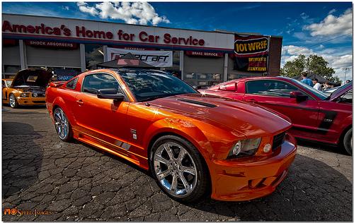 Official Z06 Daytona Orange Sunrise Metallic Thread