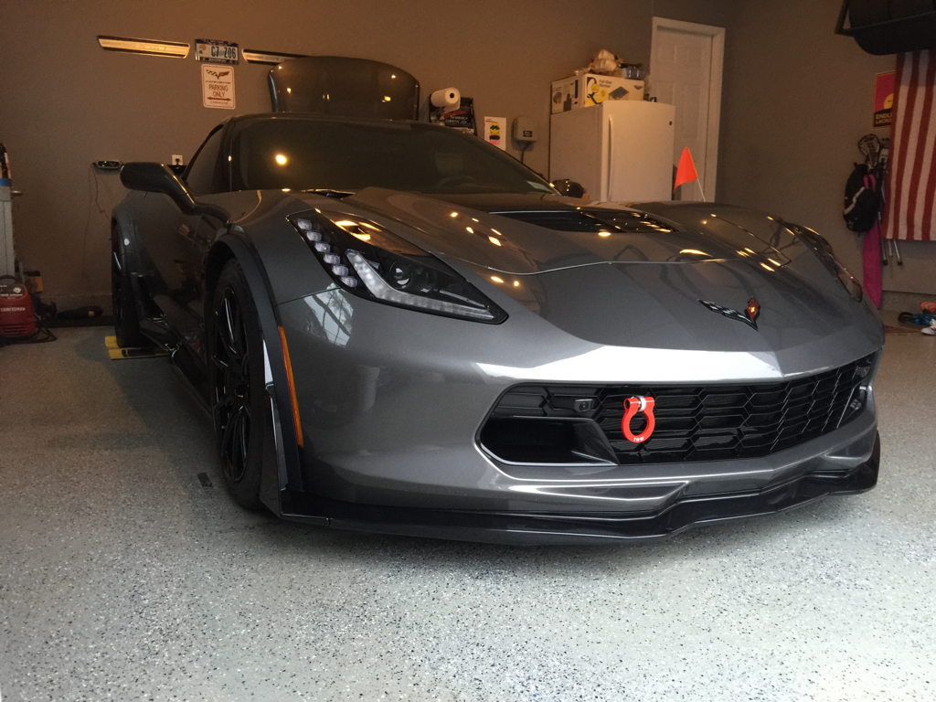 New Member Makes Tow Hooks And Splitter Guard Washers For Zo6
