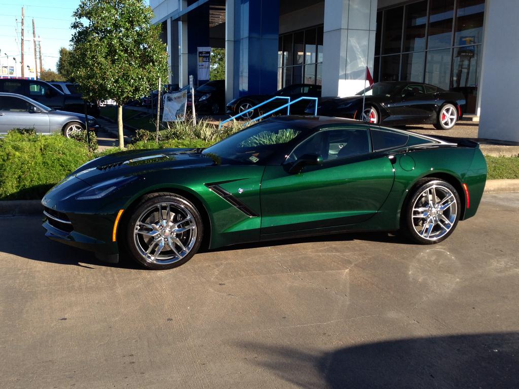 Lime Rock Green Stingray Corvette