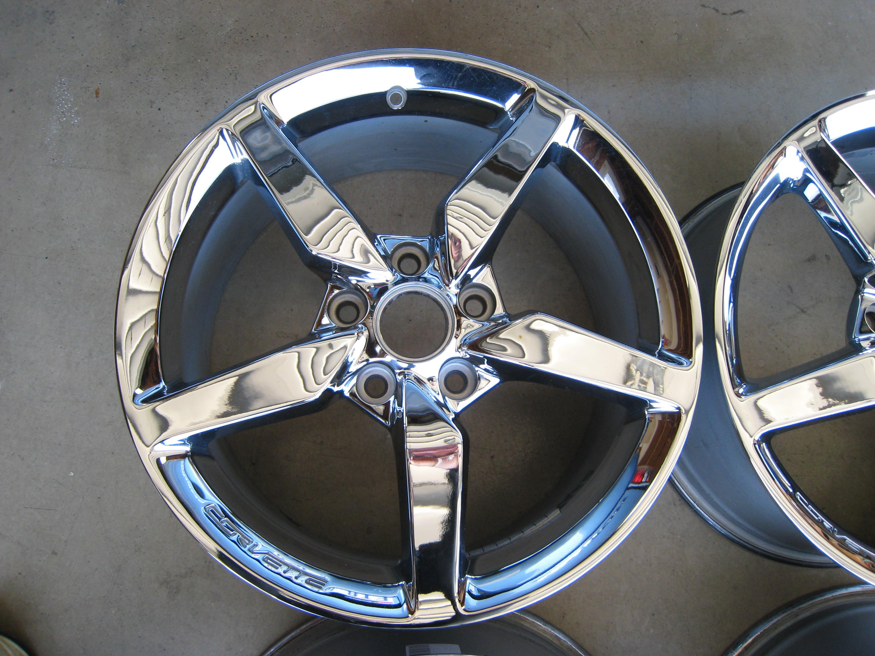 oem c7 chrome 5 spoke wheels for sale