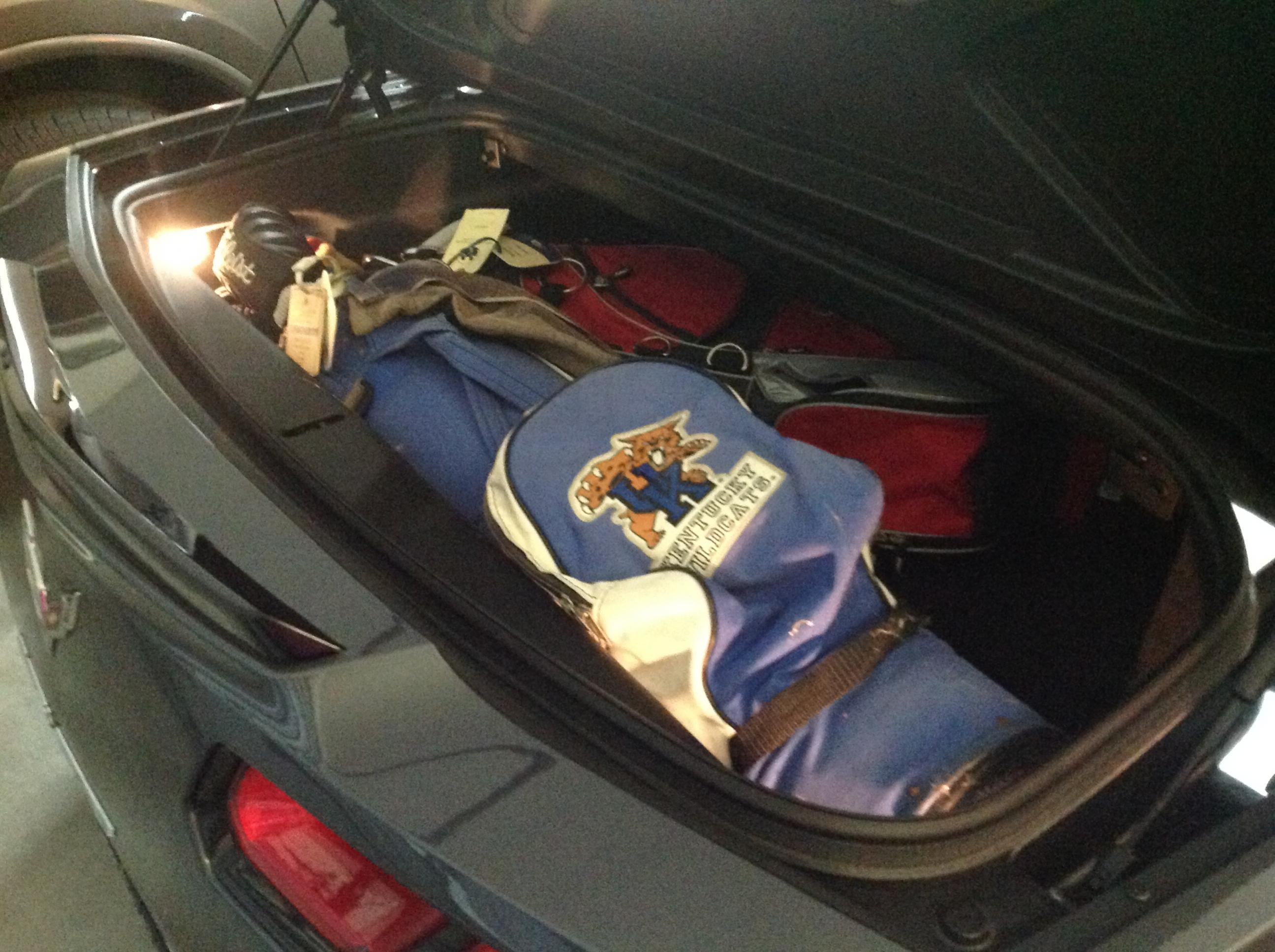 Two Sets Of Golf Clubs In Vert Trunk