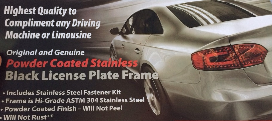 License Plate Frame - C7 - Page 5