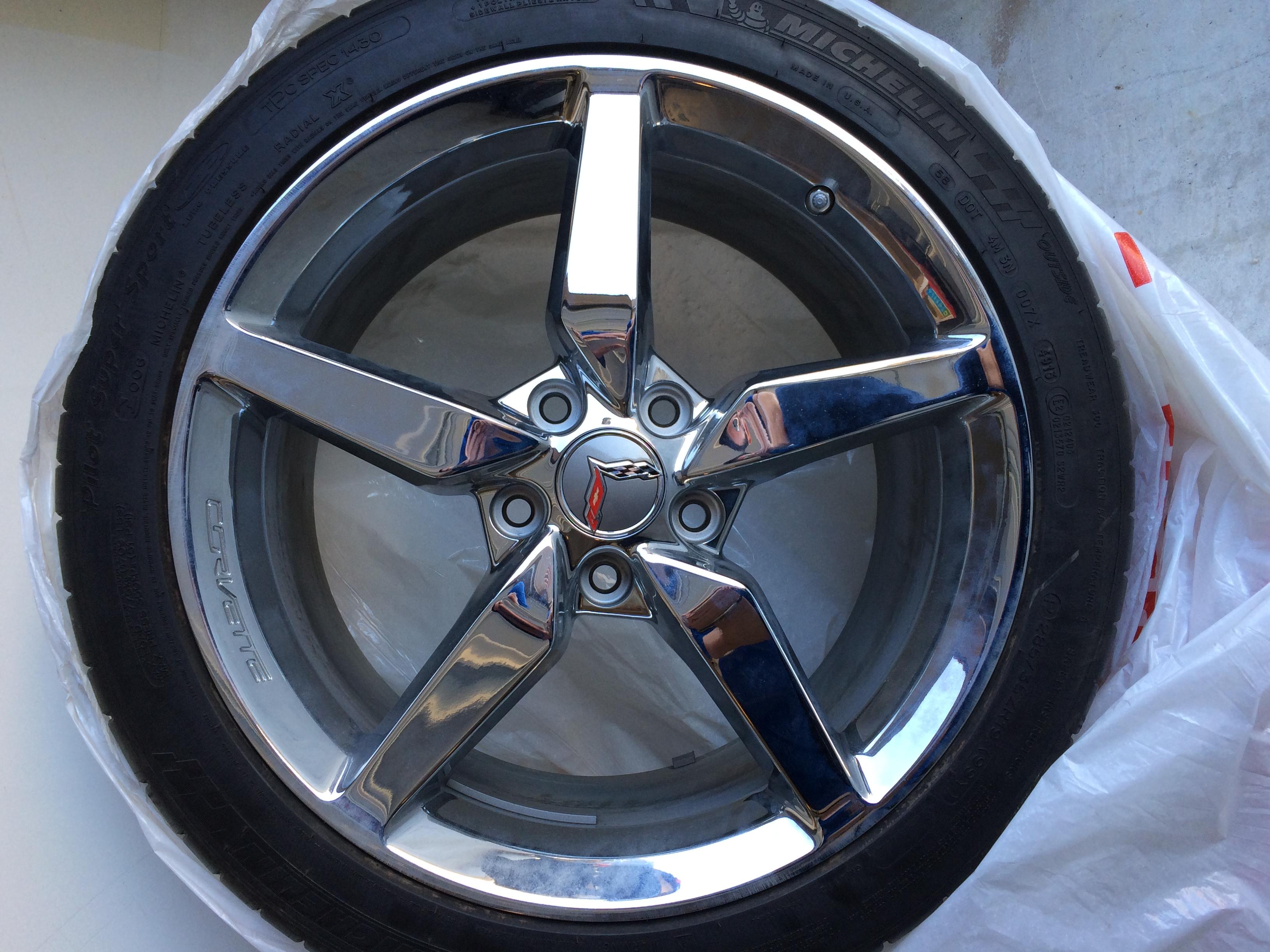 2014 Corvette Stingray Black Chrome Wheels 2014 corvette stingray