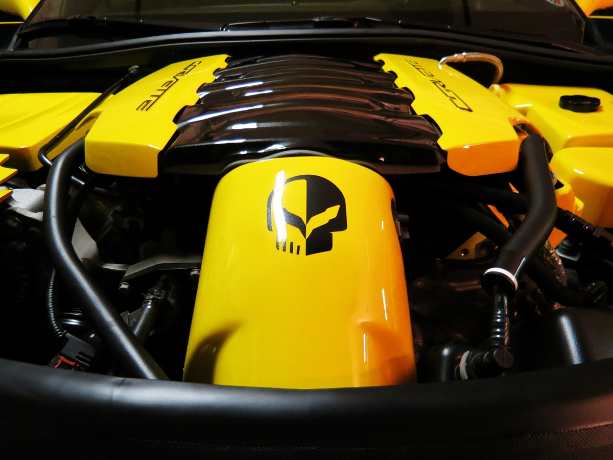 50Th Anniversary Corvette >> Engine Bay Dress Up by RPI and American Hydrocarbon