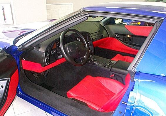 Laguna Blue Corvette Red Interior
