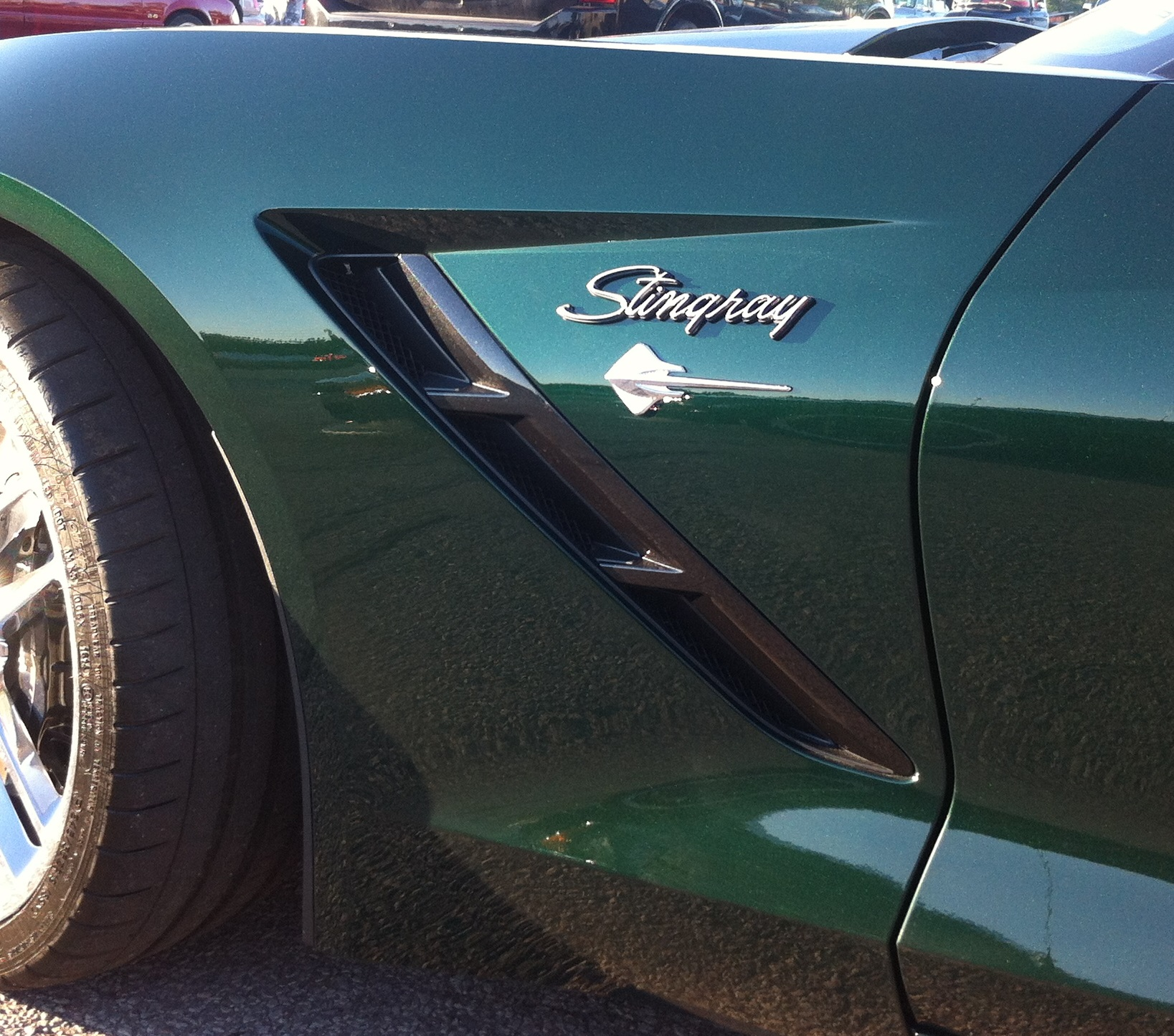 rebadged C7 with C3 Stingray script badges
