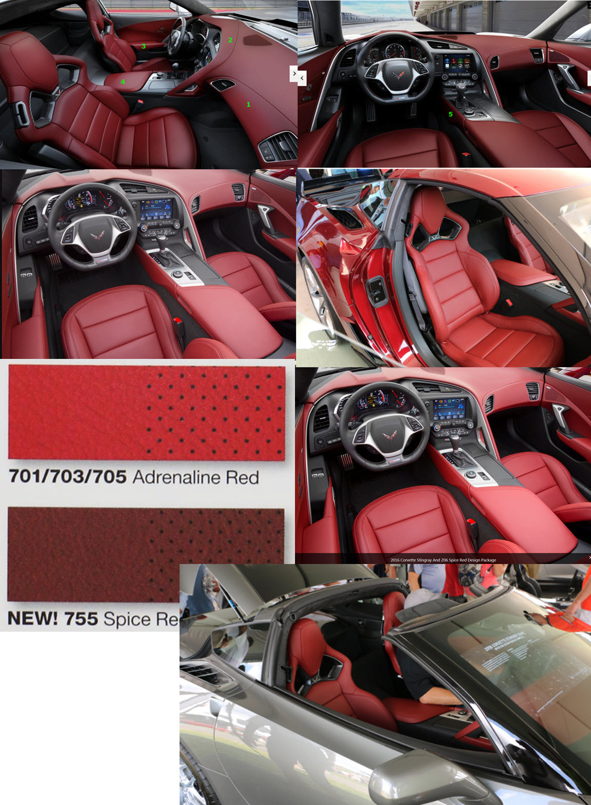 name spice red interiorjpg views 2147 size 3655 kb - 2016 Corvette Stingray And Z06 Spice Red Design Package