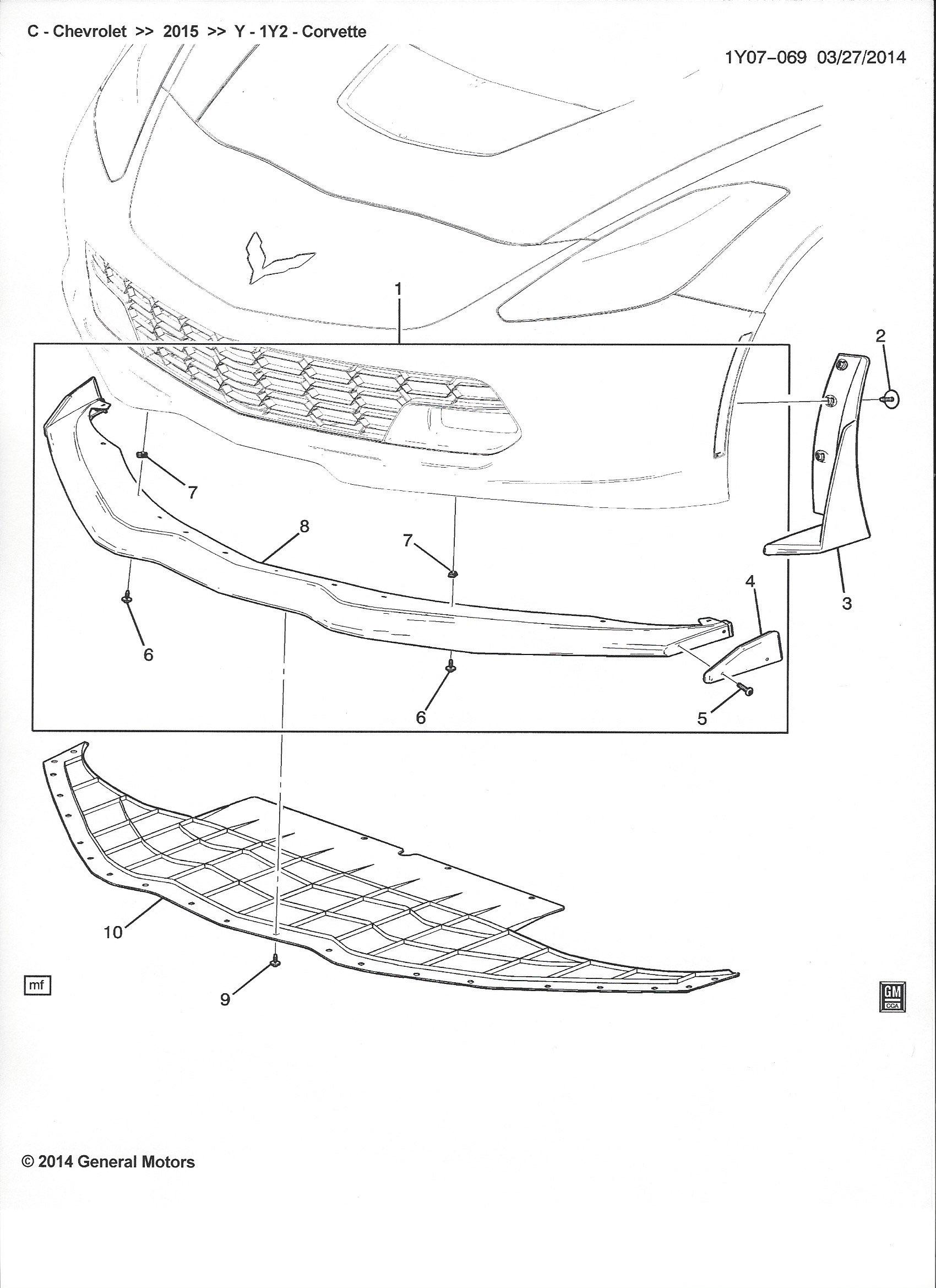 z06 front splitter options   part   u0026 39 s