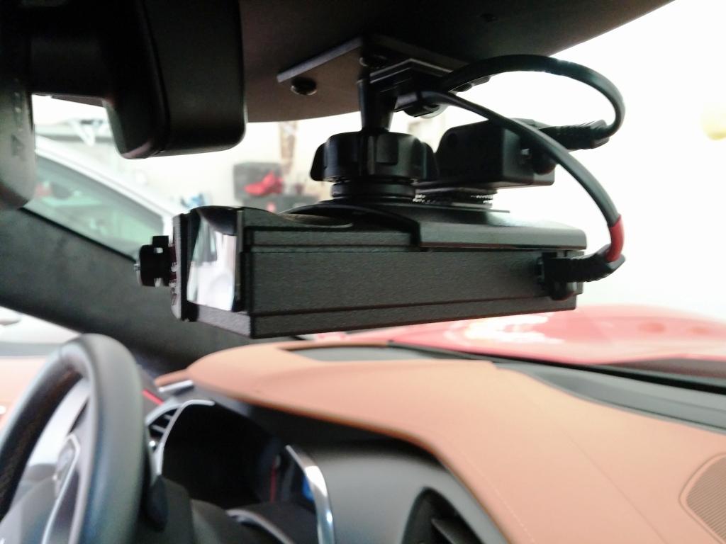 26369d1430010901 how mount v1 radar detector v1 connection bluetooth module using mirror power v1 mounted car3 how to mount v1 radar detector and v1 connection bluetooth module BlendMount Radar Detector Mount at eliteediting.co